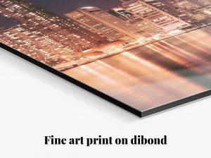 Fine art print on dibond