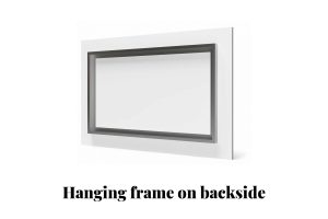 Hanging frame on backside