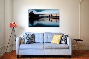 Art work above couch